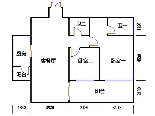 D3.D4栋2、5号房B户型