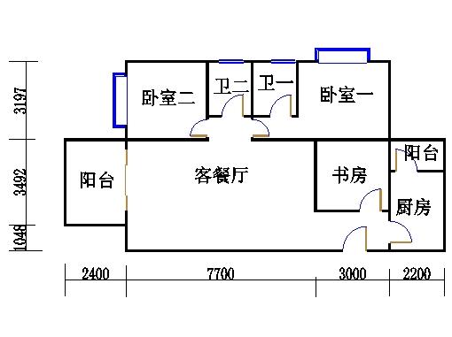 A栋21-31层01单位