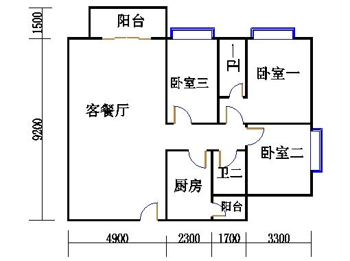 B栋21-31层01单位
