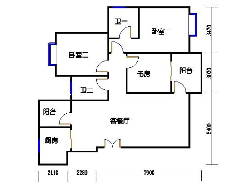 32栋1单元2-9层01室