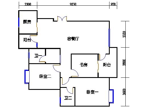 32栋1单元2-9层02室