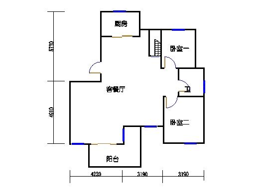 F7单元五楼复式下层