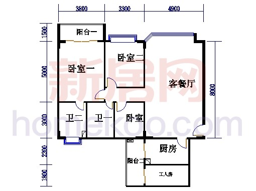海典楼、海富楼、海雅楼3-8层A单元
