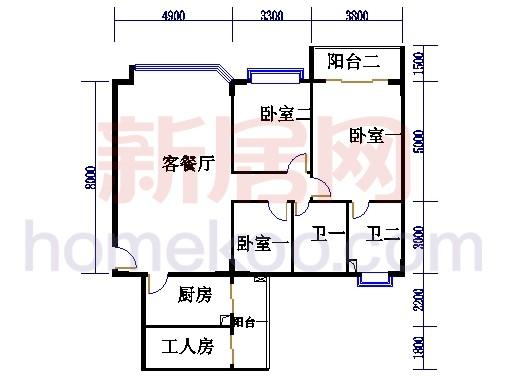 海典楼、海富楼、海雅楼3-8层B单元