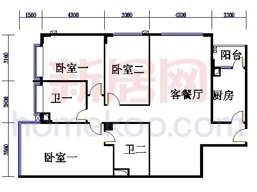 海典楼、海富楼、海雅楼3-8层C单元