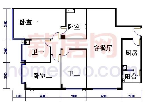 海典楼、海富楼、海雅楼3-8层D单元