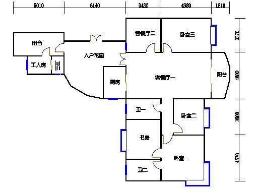 傲兰阁-冰梅阁1-2单元B