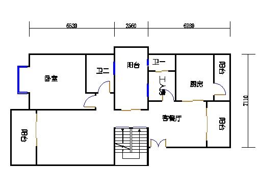 叠拼别墅A单元一层01