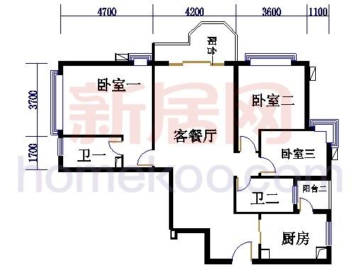 珠江广场A栋D单元