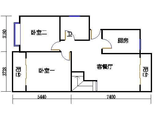11#楼B单元一层