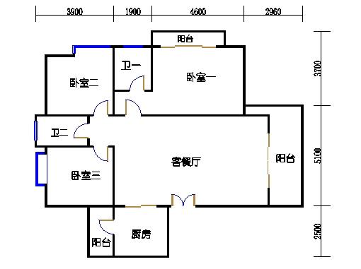 8座三梯4-8层01单元