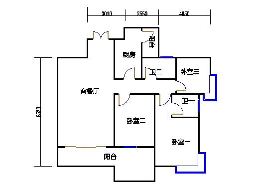 9座三梯4-8层03单元