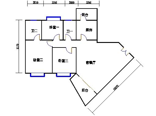 裕景2座4-23、25-29层A单元