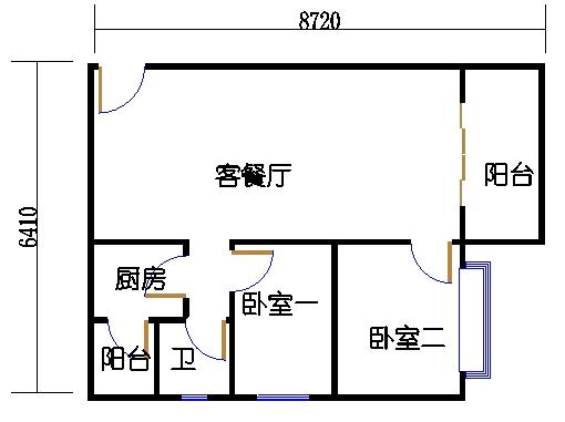 裕景2座4-23、25-29层E单元