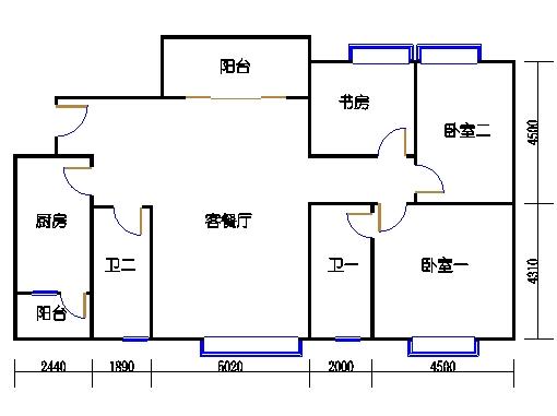 E1栋1.2.3梯01单元