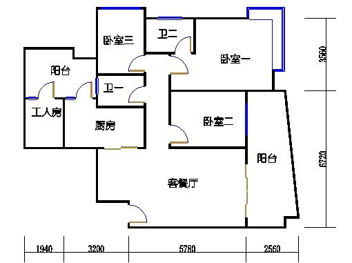 6F、G栋7-21层01单元
