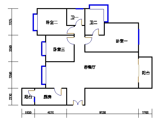 2号公寓A单元