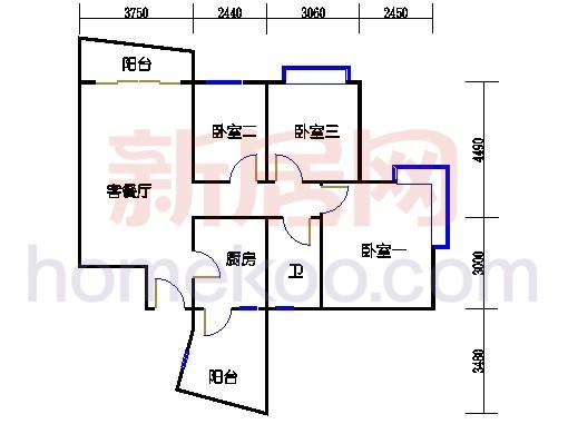 自在明苑3-5栋、自在闲庭1-4栋复式04单位复式一层