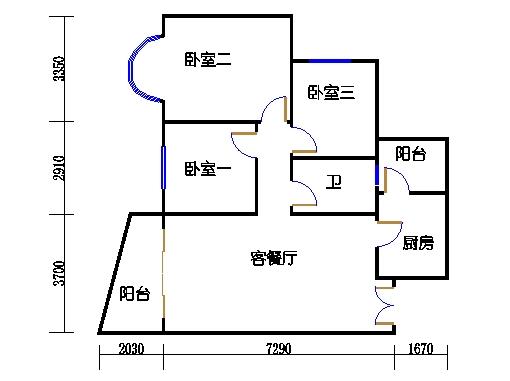 3房B单元