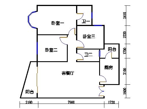 3房C单元