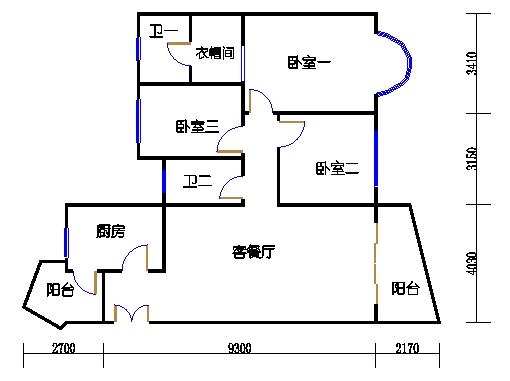 3房D单元