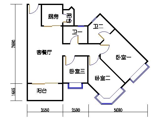 1座3层到17层01单元