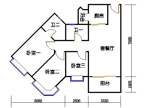 1座3层到17层06单元