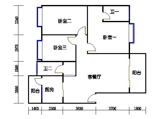 雅云阁二-十二层.A01单元