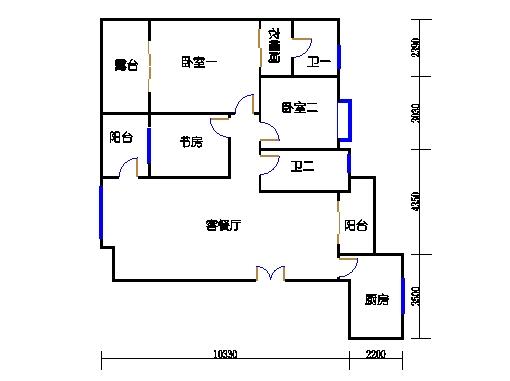 雅云阁十-十二层.B02单元