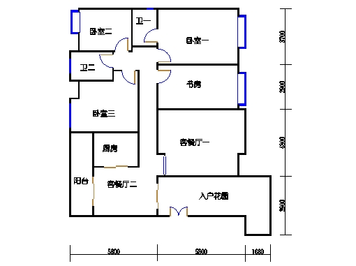 瑞云阁二-八层.A01单元