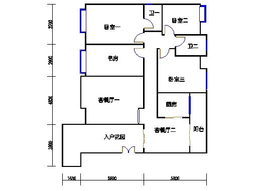 瑞云阁二-八层.C02单元