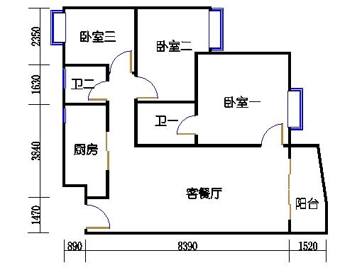 D7栋3-8层01单元