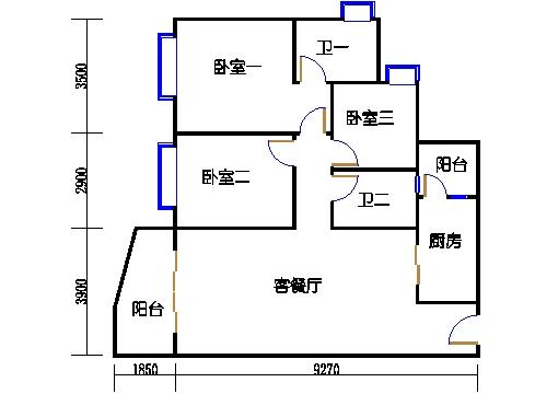 B1栋3至15层01单元