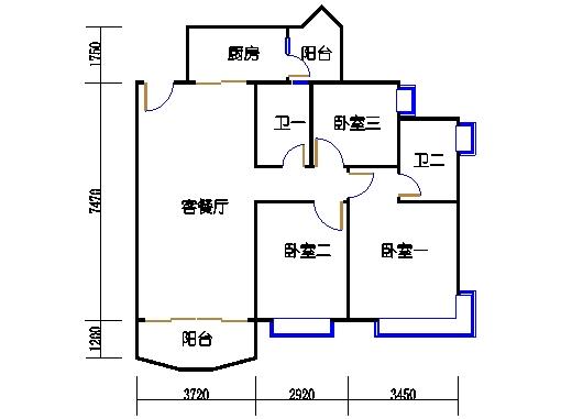B2栋3至15层03单元
