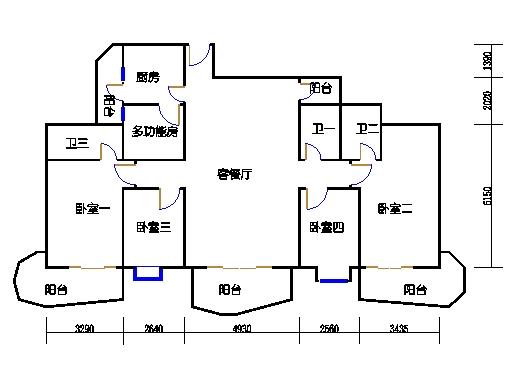 E1、E4栋二至十九层01单元