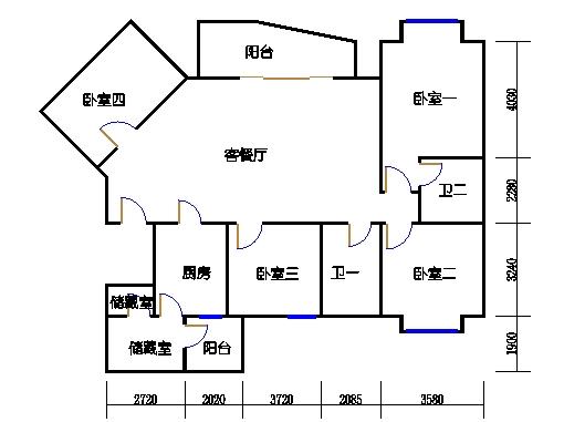 E1、E4栋二至十九层05单元