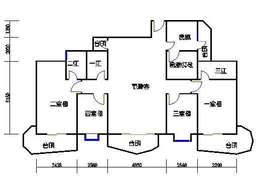 E2、E3栋二至十八层01单元