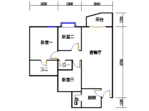 E2、E3栋二至十八层03单元