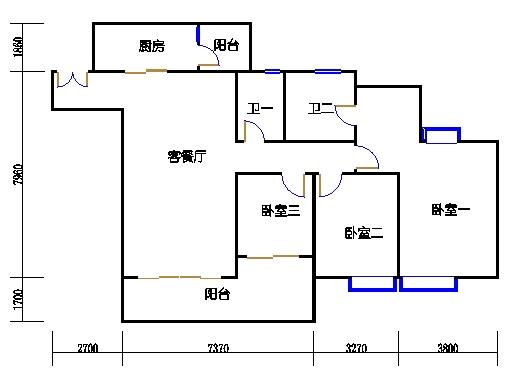 A1栋6-23层01单元
