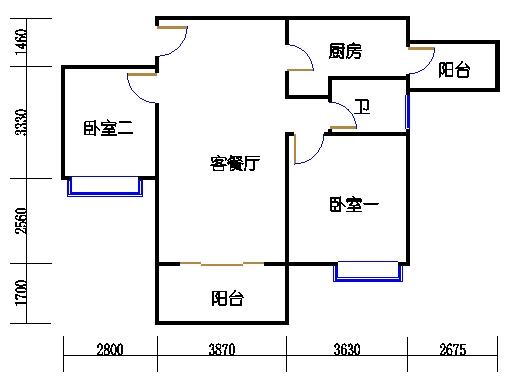A1栋6-23层02单元