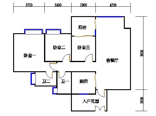 A3栋6-23层03单元