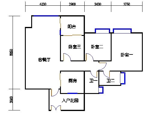 A3栋6-23层04单元