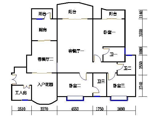 S1型2-16层01单元