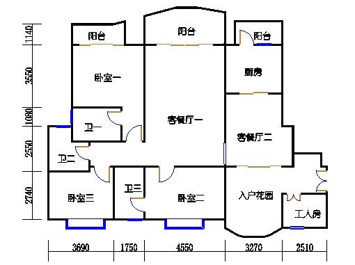 S1型2-16层02单元