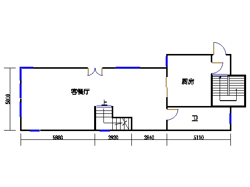 半岛叠景别墅G单元1-2层一层