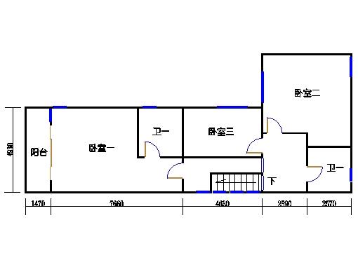 半岛叠景别墅G单元1-2层二层