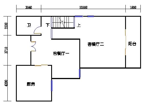 半岛叠景别墅G型3-5层三层