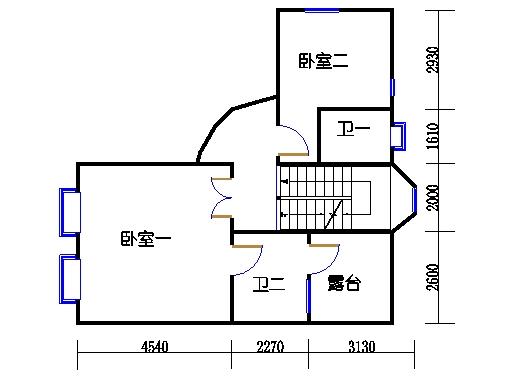 北区独立别墅01单元二层