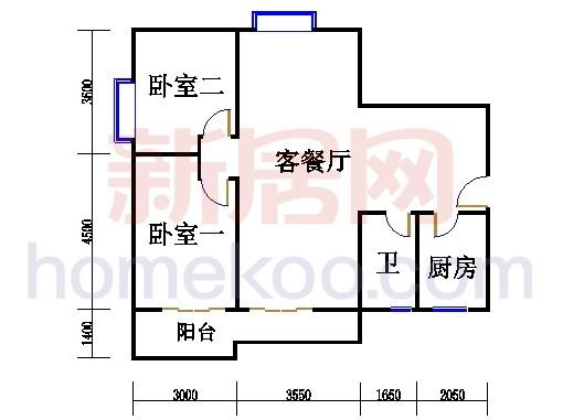 二居室B户型