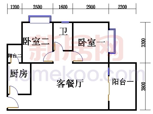 二居室C户型
